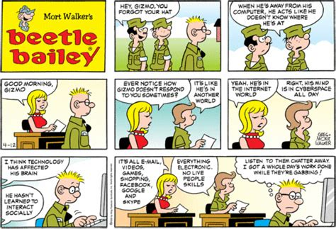 beetle bailey dailystrips for sunday april 12 2009