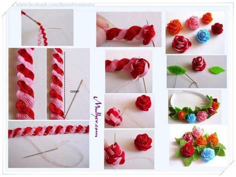 perlas de estambre manualidades pinterest paso a paso para hacer flores con cinta zig zag para una