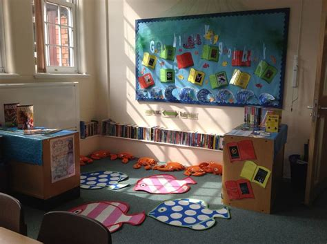 book themes ks2 under the sea reading corner get hooked by a good book
