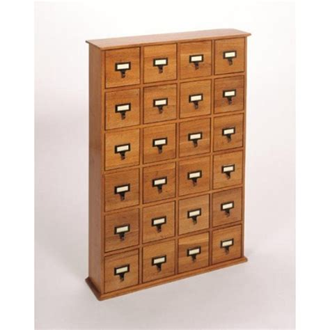 40 quot 24 drawer storage cabinet in walnut cd 288w