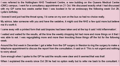 Qmc Appointment Letter Symptoms Diagnosis