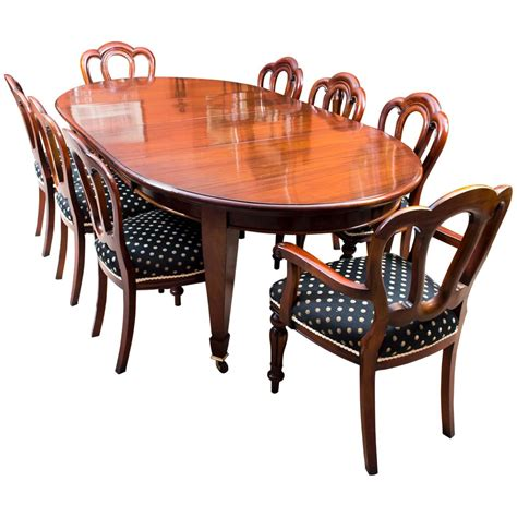 Vintage Dining Table Set Antique Edwardian Dining Table Eight Chairs Circa 1900 At 1stdibs