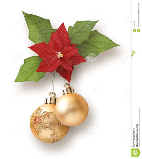 christmas garlandballs garland from balls with poinsettia stock image image 17167031