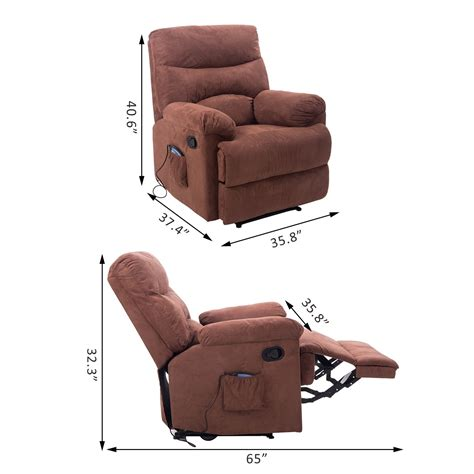 Heated Recliner Massage Chair Vibrating Turns Sofa W Heated Reclining Sofa