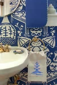 david hicks the vase wallpaper contemporary bathroom
