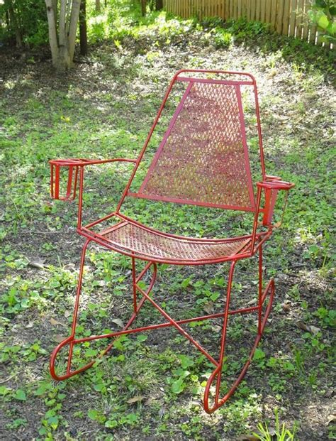Metal Patio Rocking Chairs Metal Patio Rocking Chair Mid Century Modern Pinterest Rocking Chairs Outdoor And Vintage