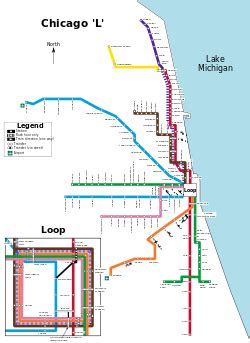 cta loop map list of chicago quot l quot stations the free