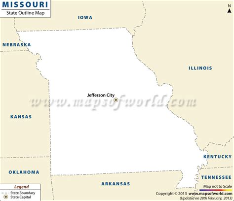 missouri on a map of the usa blank map of missouri missouri outline map