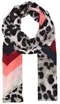 016af6rkorean Fashion Color Stripe Pattern Temperament Scarf Coffee vince camuto leopard shopstyle