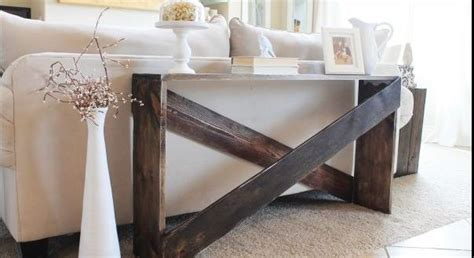 regal hinter sofa 15 diy sofa tables you can build easily home and