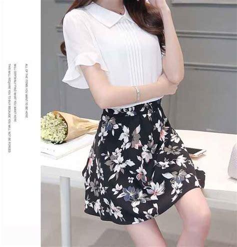 Setelan Mini Motif baju setelan rok motif bunga 2017 myrosefashion