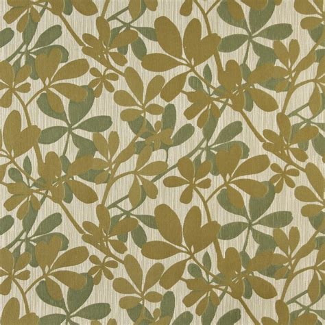 contemporary drapery fabric green abstract leaves contemporary upholstery fabric by