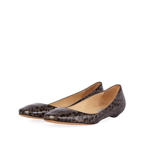 Ballet Flats 3 by Jimmy Choo Leopard Print Ballet Flats S 36 3 Luxity