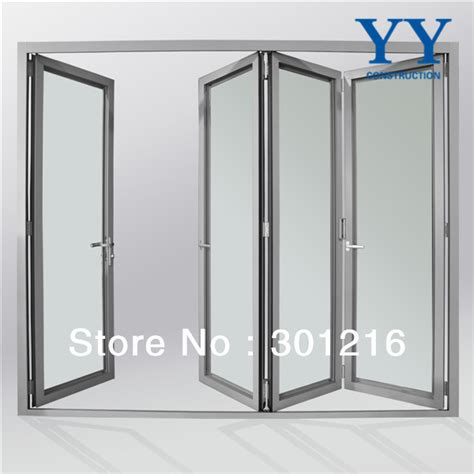 Aluminium Folding Patio Doors Aluminium Glass Door Design Glass Mulit Panel Folding Front Door Design Folding Patio Door