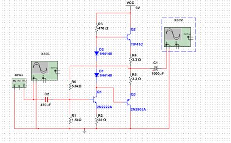 transistor tip41c lifier problem with designing an audio lifier