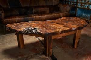 this coffee table made from burled oak is truly one of a