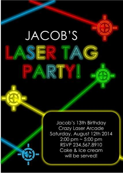laser tag invitations templates laser tag invitation editable partygamesplus