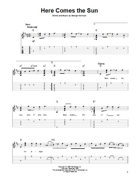 guitar tutorial here comes the sun here comes the sun by the beatles solo guitar guitar