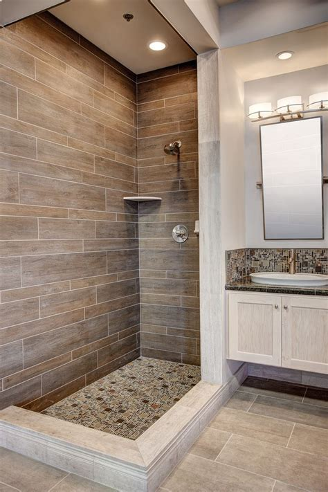 wood tile floor bathroom best 25 brown tile bathrooms ideas on pinterest brown