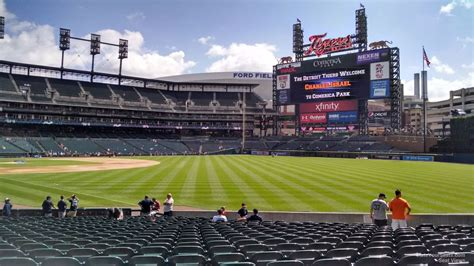 section 113 comerica park comerica park section 113 detroit tigers rateyourseats com