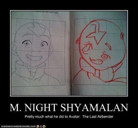 M Night Shyamalan Meme - close enough avatar the last airbender the legend of