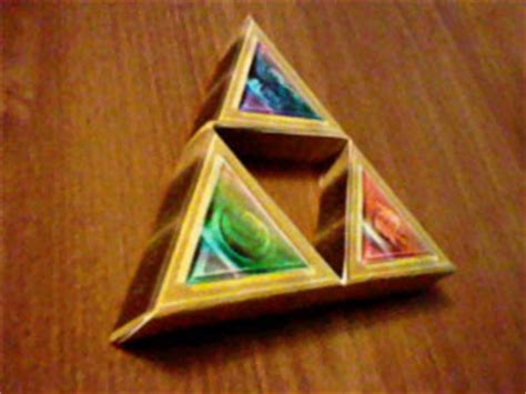 Triforce Papercraft - triforce papercraft recolored papercraft paradise