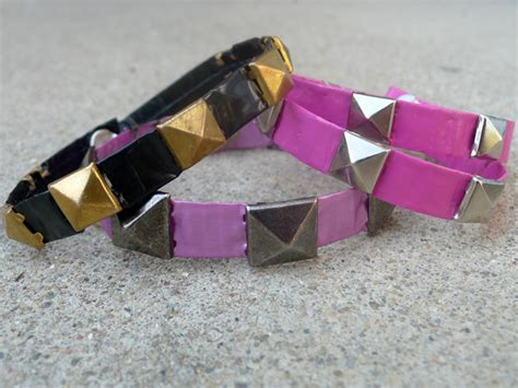 how to make duct jewelry thanks i made it diy duct studded bracelets