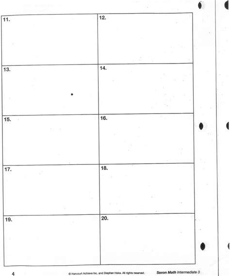 Saxon Math Worksheets by Saxon Math Homework Sheets Descargardropbox