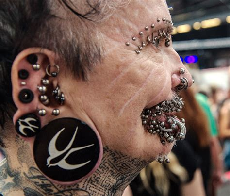 world s most pierced man rolf buchholz too much for