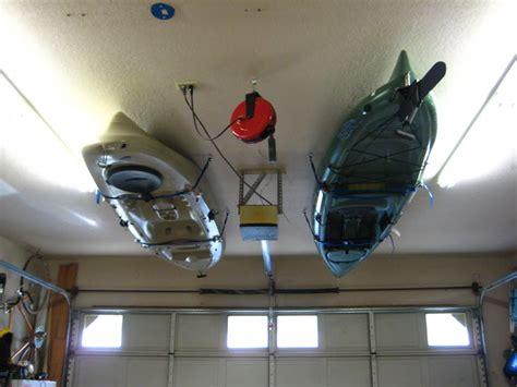 Garage Kayak Storage by Kayak Storage On Kayak Rack Kayak Trailer And
