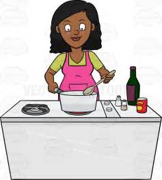 Someone S In The Kitchen by A Black Looks Happy At The Dish She Is Cooking
