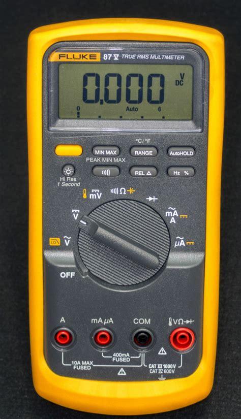 Multitester Fluke 87 fluke 87 series v trms industrial dmm digital multimeter w temperature 87v 87 v ebay