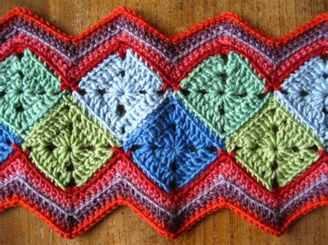 diamond zig zag afghan pattern i love the design idea the way the little squares are