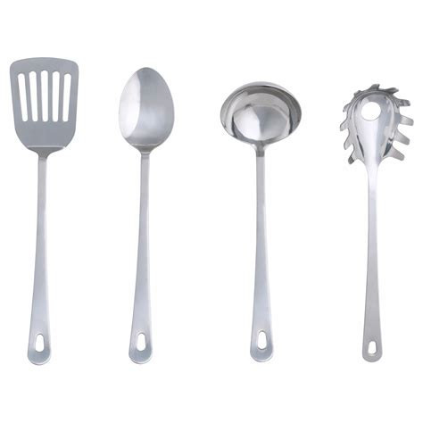 Kitchen Wares by Grunka 4 Kitchen Utensil Set Stainless Steel