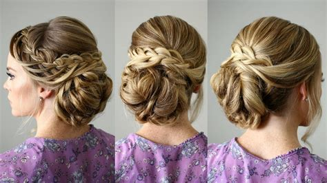 long hair buns for late 30 year old looped braid updo missy sue youtube