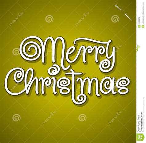 merry christmas hand lettering vector stock images image