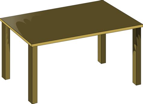 Collapsible Dining Table by Table Clip Art At Clker Com Vector Clip Art Online