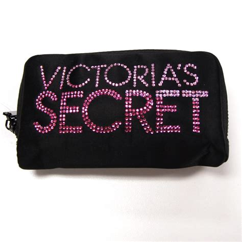 Secret Cosmetic Pouch 0024 s secret cosmetic bag makeup jewelry zip bling rhinestones v244 ebay