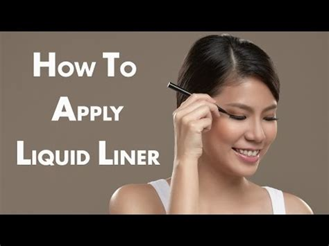 How To Apply The Best How To Apply Liquid Eyeliner Applying Liquid Eyeliner To