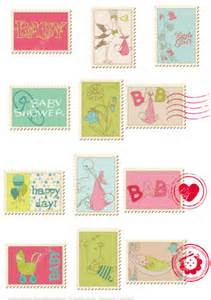 Baby Shower Paper Crafts - printable baby shower pink postage sts free printable