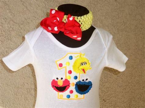 Alized Elmo Sesame Street  Ee  Birthday Ee   Shirt For Kids