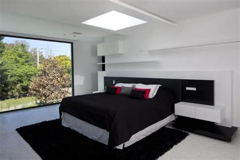 black and white modern bedroom carrara house contemporary bedroom interior design ideas