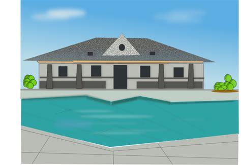 Small Cabin Home poolside villa clip art at clker com vector clip art