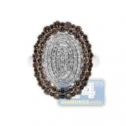Cincin Black Gold 70 2270 Gram 18k Two Tone Gold 1 44 Ct Womens Flower Ring
