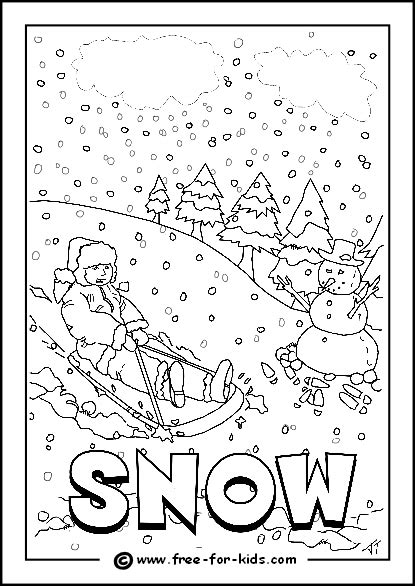 image of snowy day colouring page homeschooling