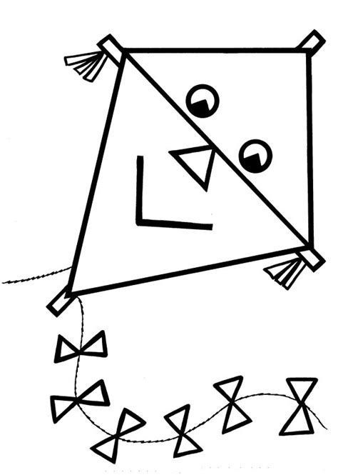 kite coloring pages preschool kite preschool coloring pages