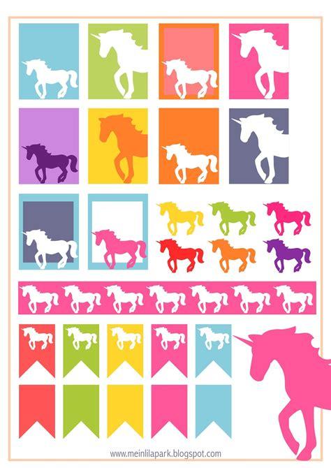 Aufkleber Drucken by Free Printable Unicorn Planner Stickers Ausdruckbare