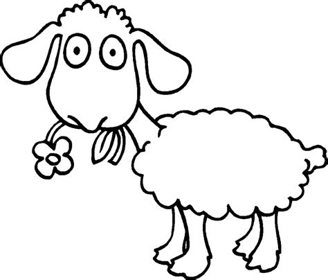 Sheep Outline Az Coloring Pages Sheep Coloring Pages Preschool