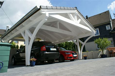 carport holz gebraucht spitzdach carport leimholzkonstruktion traditionell
