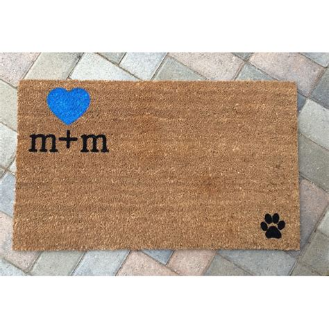Personalized Mat by Custom Initials Welcome Mat Personalized Doormat Wedding